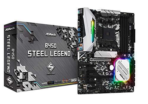 ASRock B450 Steel Legend Socket AM4/ AMD Promontory B450/ DDR4/ Quad CrossFireX/ SATA3&USB3.1/ M.2/ A&GbE/ATX -