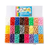 Children DIY Toys Midi Fuse Beads Size 5mm 4800PCS 24 Color Plastic Box with 2PCS Ironing Paper