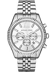 Michael Kors Men's Lexington Silver-Tone Watch MK8405