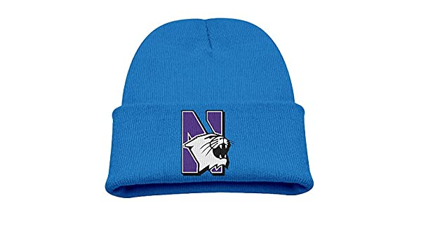 4eebf185b5404 Amazon.com  Northwestern University Football Sign Toddlers Outdoor Winter  Beanies Hat Great For Kids  Clothing
