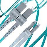 LC to SC OM3 Fiber Patch Cable Multimode Duplex - 2m (6ft) 50/125 10Gb Aqua - Beyondtech PureOptics Series