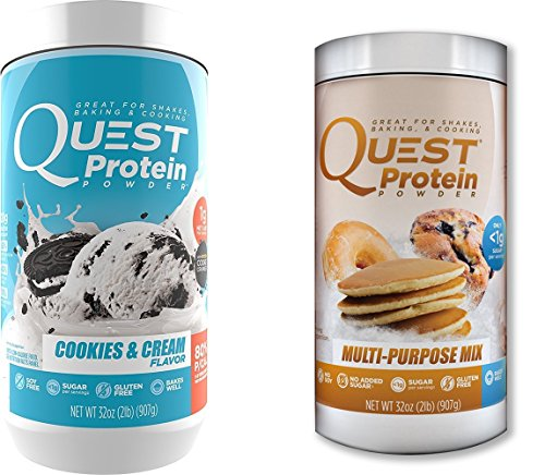Quest Nutrition Quest Protein VsMNRo Powder, Cookies and Cream/Multi Purpose 2lb Tub (1 of Each) by Quest Nutrition