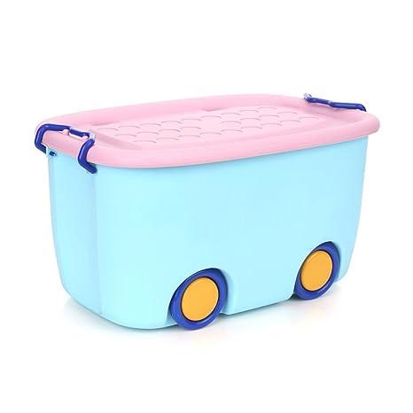 OUNONA - Caja de Almacenamiento apilable para Guardar cerraduras de plástico para niños Juguetes de bebé
