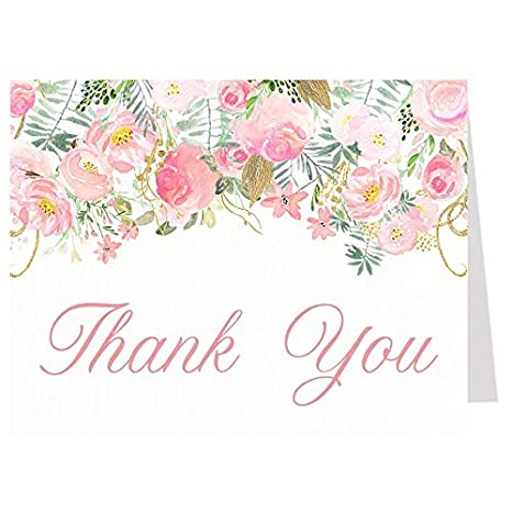 Amazon Com Thank You Cards Baby Shower Thank You Cards Bridal