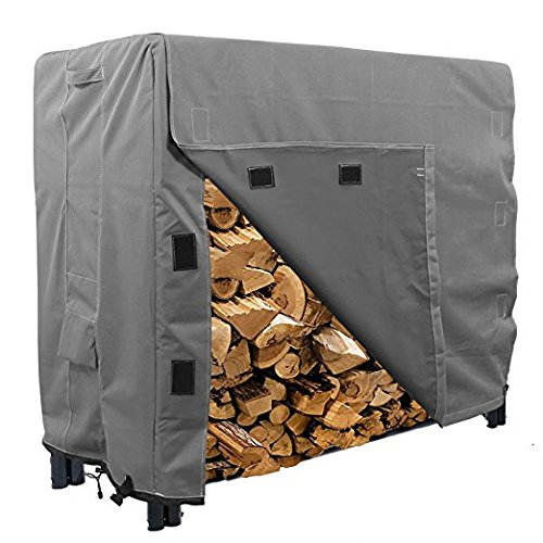 KHOMO GEAR - Heavy Duty Log Rack Cover - 4 Feet - Titan Series - Grey by KHOMO GEAR