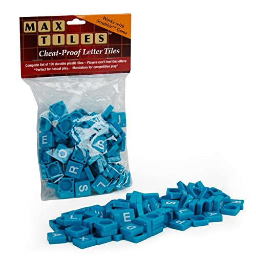 (Scrabble Tiles - 100pc Plastic Blue Tiles - Perfect For Crafting and Scrapbooking)
