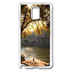 Samsung Galaxy Note 4 Case, DIY galaxy note 4 cases PC Transparent With pattern the Seine, Paris