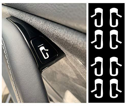 Custom Cut Graphics Tesla Model 3 Door Exit Decal Set (White)