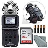 Zoom H5 Handy Recorder Basic Bundle with 16 GB, Batteries & FiberTique Cleaning Cloth