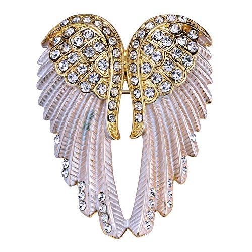 - Hiddleston Crystal Guardian Angel Wing Jewelry Custom Brooch Pins Pendants Women