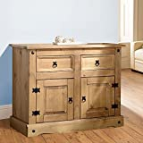 Mews Corona Small Sideboard Solid Pine 2 Door, Mexican by Mews