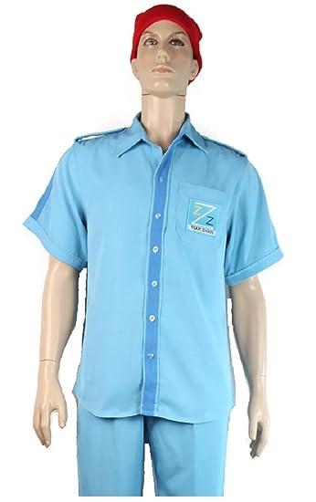 680e6a3bc31 Amazon.com  Life Aquatic with Steve Zissou Costume Halloween Uniform Blue   Clothing