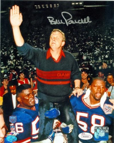 Bill Parcells autographed 8x10 Photo (New York Giants celebration) Image #1 JSA Authenticated Witnessed ()