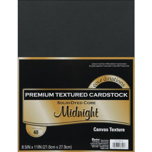 Darice Core'dinations GX-2200-32 Cardstock Value Pack Midnight 65 Lb Textured, 8.5x11]()