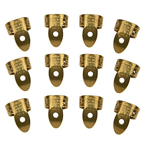 (National Picks Metal Finger Pick Vintage Brass 12)