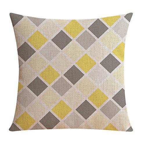 Funda de cojín #3 de TOOGOO®, de lino, con patrón geométrico ...