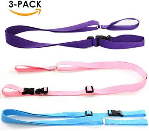 LARGE SIZE Anti-Lost Wristband safety Walking Harness Rope Belt Leash Strap Adjustable /& Multi-functional 116CM- 3 Pack