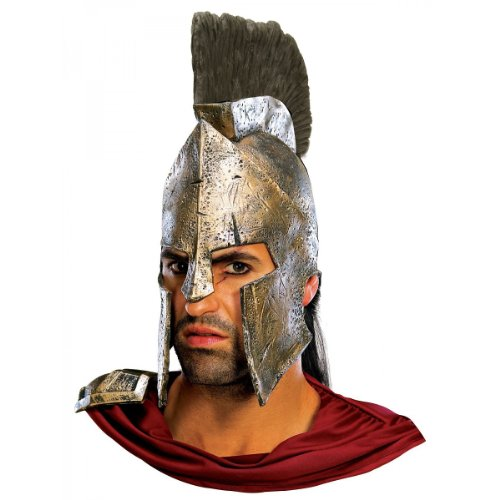 Spartan Costume Helmet (Rubie's Costume Co. Men's 300 Movie: Deluxe King Leonidas Costume Helmet, AS SHOWN, One Size)