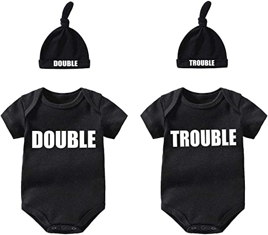 Pack of 2 Twins Unisex Baby Bodysuit