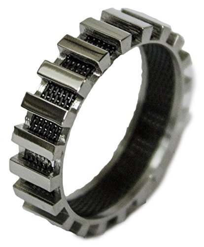 Men's Stainless Steel Dress Ring Steel and Mesh Band 083 (9)