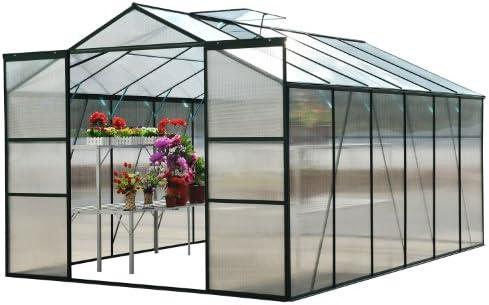 Aluminio Invernadero Vivero tomates semillero con/sin base: Amazon.es: Jardín