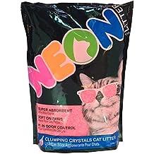NEON Clumping Silica Gel Cat Litter, 4 lb, Pink