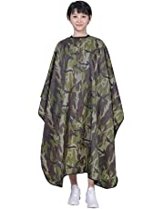 Waterproof Oilproof Haircut Cape Barber Hairdressing Wrap Camouflage Color Hairdressing Supplies Salon Hair Styling Accessory (Camouflage Color)