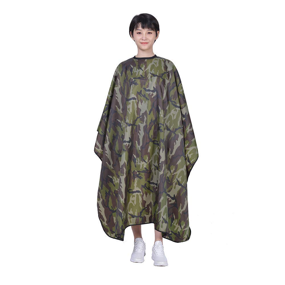 Waterproof Oilproof Haircut Cape Barber Hairdressing Wrap Camouflage Color Hairdressing Supplies Salon Hair Styling Accessory (Camouflage Color) (Camouflage Color) Newsilk Store