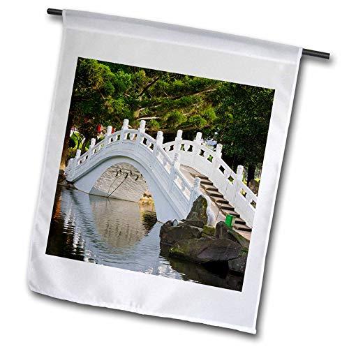 3dRose Danita Delimont - Taiwan - Bridge in Liberty Square, AKA Freedom Square, Garden, Taipei, Taiwan - 12 x 18 inch Garden Flag (fl_312810_1) (Best Architecture In Taipei)