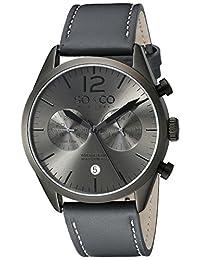 SO & CO New York Men's 5028.1 Monticello Analog Display Quartz Grey Watch