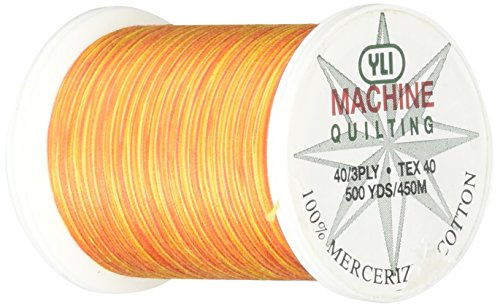 - YLI 24450-V75 3-Ply 40wt T-40 Cotton Quilting Variegated Thread, 500 yd, California Poppy