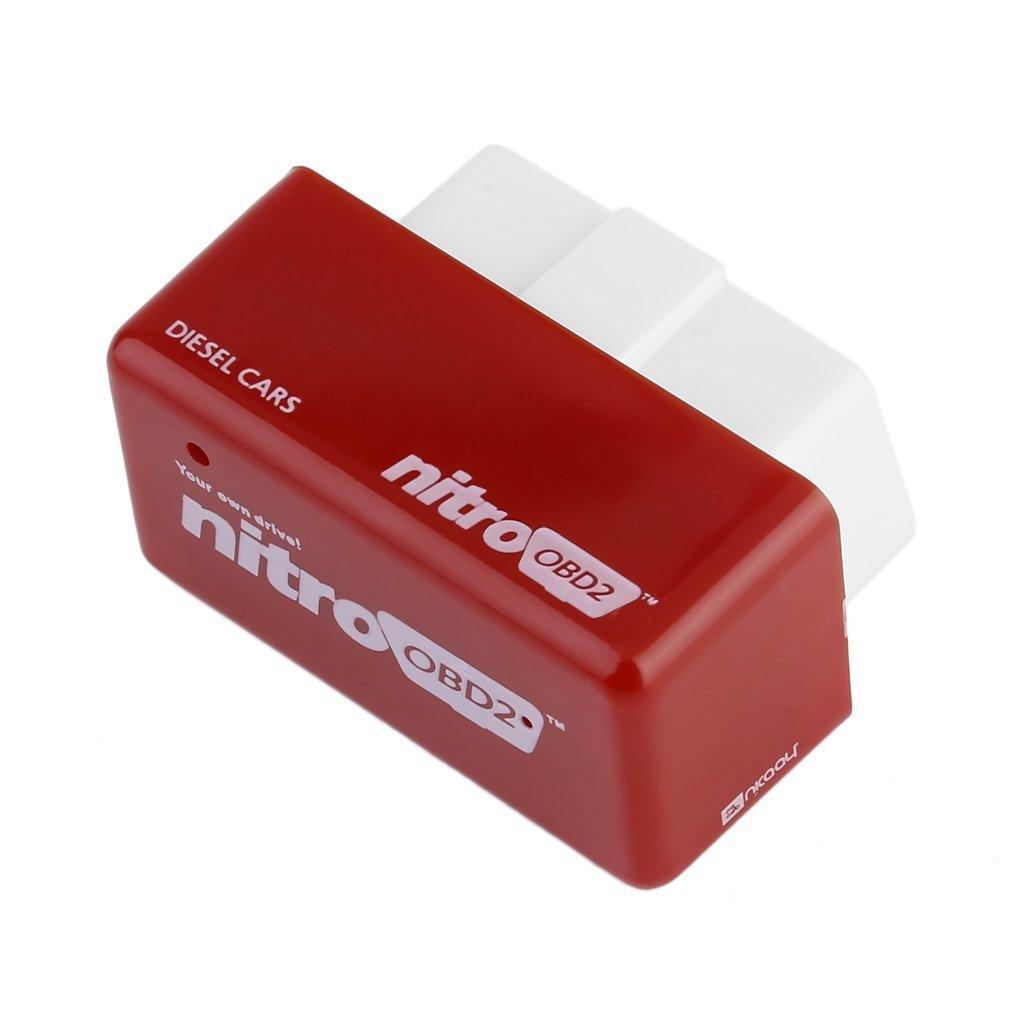 LeoboofeOBD2 Plug and Drive Nitro OBDII Bo/îte de r/églage de la puce de voiture /à couple plus puissant pour voiture diesel et voiture