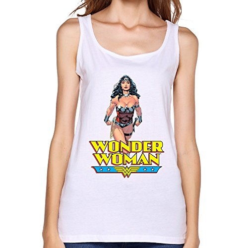 [AOPO Summer O-Neck Wonder Woman Diana Prince Tank Top For Women XX-Large White] (Carrie White Halloween Costume)