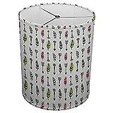 Hardback Linen Drum Cylinder Lamp Shade 8'' x 8'' x 8'' Spider Construction [ Pink Love Arrow ]