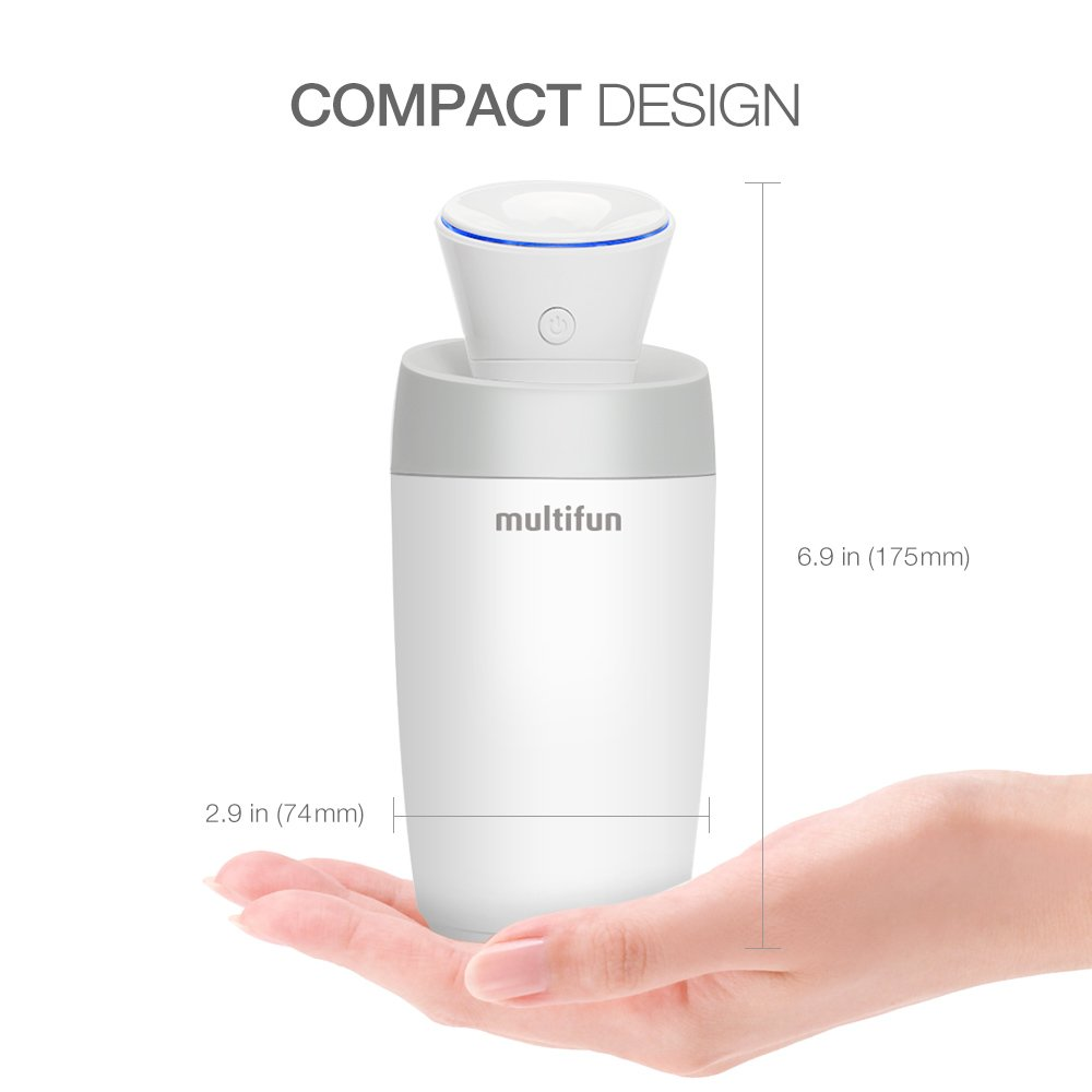 USB Humidifier, multifun Portable Mini Humidifier, Car Humidifier with Auto Shut-off, Multi Use for Travel Office Desk Desktop Car Small Baby Bedroom with Water Bottle by multifun (Image #2)