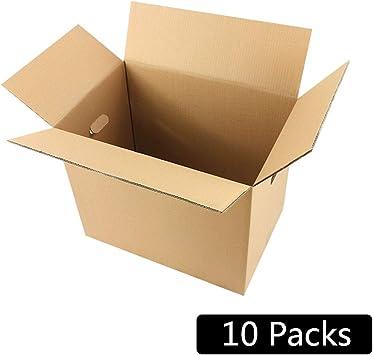 Dray 10 cajas de mudanzas cargadas,10 paquetes de cajas de papel para mudanzas,adecuadas para mudanzas familiares,para envolver regalos,paquetes de paquetes de transporte,reubicación de oficinas,artíc: Amazon.es: Electrónica