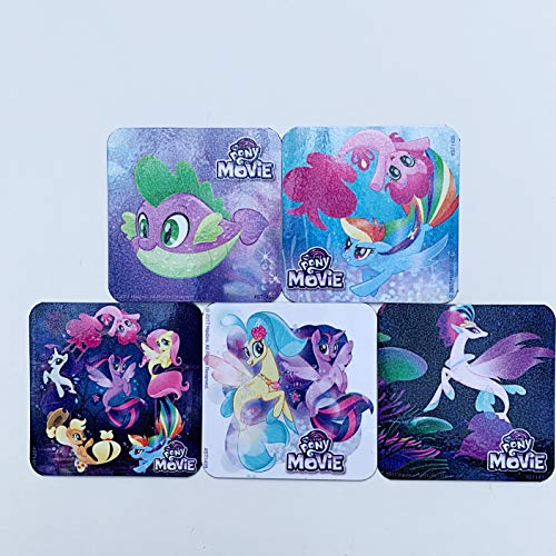 My Little Pony Movie Refrigerator Magnets, Birthday Party Favors, 5 Fridge Magnets Set ()