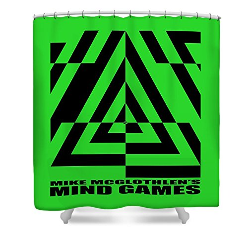Pixels Shower Curtain (74'' x 71'') ''Mind Games 21se''