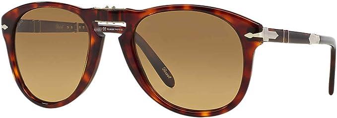 New Persol Sunglasses PO0714 24//S3 Steve McQueen Folding Havana 54mm Polarized
