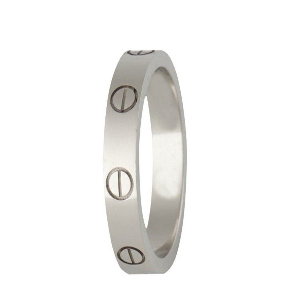 FHMZ Love Ring-Silve Lifetime Just Love You 4MM in Width Sizes 5