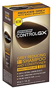 (3 PACK) Just For Men Control Gx 2-In-1 Shampoo+Conditioner Grey Reducing 5 Ounce 147ml