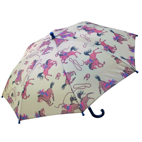 (RainStoppers Boy's Cowboy Print Umbrella, 34-Inch)