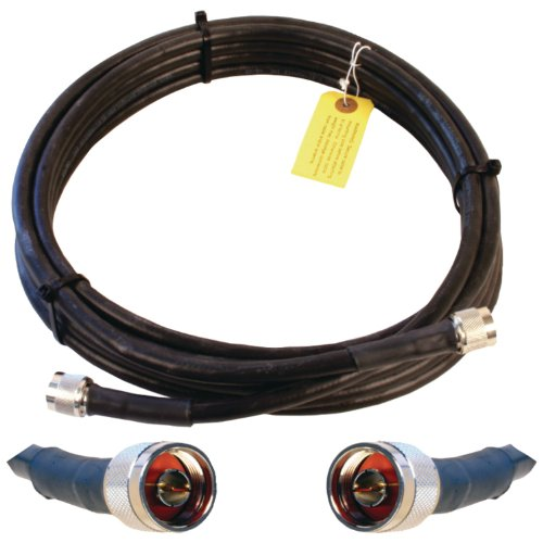 Wilson Electronics 100 ft Black WILSON-400 Ultra Low Loss Coax Cable N-Male to NMale