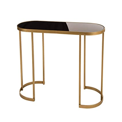 Amazoncom Glitzhome Deluxe Looking Mirrored Gold Console Table