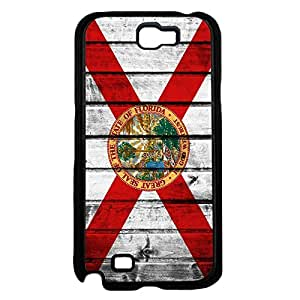 Florida State Flag Red and White St Andrews Cross Wood Pattern Hard Snap on Phone Case Cover Samsung Galaxy Note 2 N7100