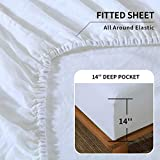 King Linens 100% Linen Fitted Sheet Stone Washed