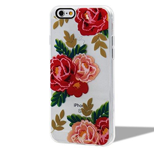 Custodia per iPhone 6/6S Silicone Morbida Transparente - Girlyard Colorata Sottile Gel TPU Antiurto Protezione Cover Case per Apple iPhone 6S/6 4.7 Telefono Caso con Pellicola Protettiva e Penna (Fio