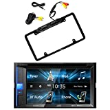 JVC KW-V130BT Double DIN Bluetooth In-Dash DVD/CD/AM/FM Car Stereo Receiver w/Touchscreen with Pyle
