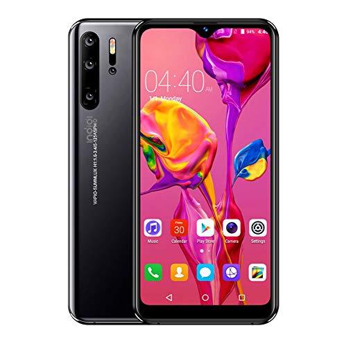 "Android 9 Wireless Mobile Smart Phone 4G Large 6.3"" Full Face Screen w/Fingerprint Sensor Ultra-Thin (GSM Unlocked) - Black"