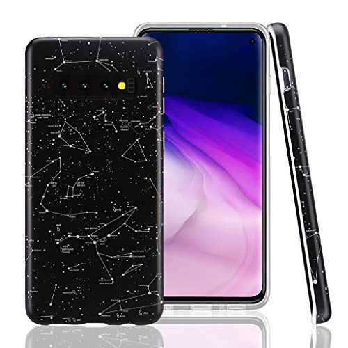 GOLINK Case for Galaxy S10, Matte Finish Space Series IMD Printing Slim Fit TPU Gel Case for S10 (6.1